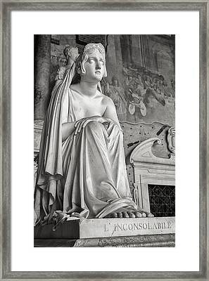 The Inconsolable Statue At Pisa Framed Print