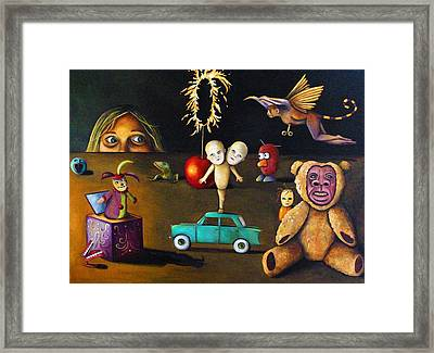 The Incredible Creepy Toy Collection Framed Print by Leah Saulnier The Painting Maniac