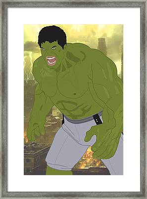 The Incredible Hulk - Avengers Framed Print by Troy Arthur Graphics