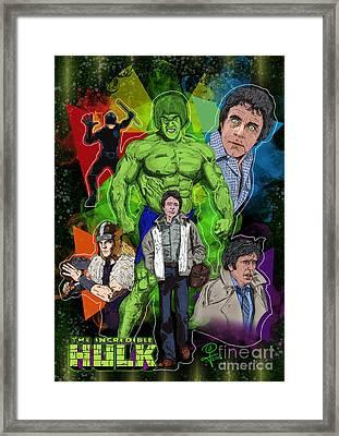 The Incredible Hulk Framed Print by Joseph Burke