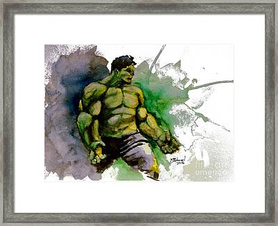 The Incredible Hulk Framed Print by Rob Spitz
