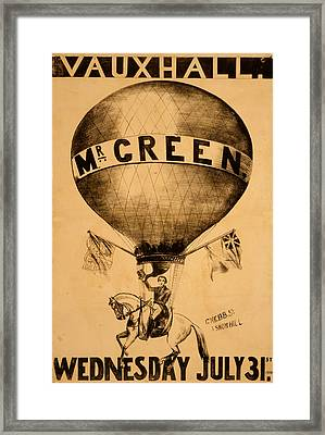 The Incredible Mr. Green Framed Print