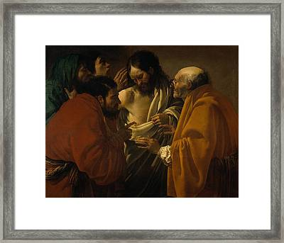 The Incredulity Of St. Thomas Framed Print