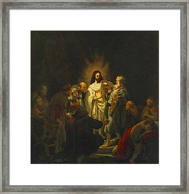 The Incredulity Of St Thomas  Framed Print