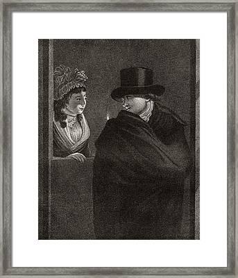 The Indecisive, After An Engraving Framed Print by Vintage Design Pics