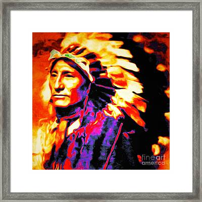 The Indian Chief 20151227 Square Framed Print