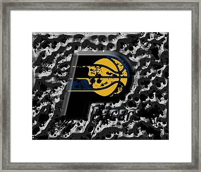 The Indiana Pacers 1a Framed Print by Brian Reaves