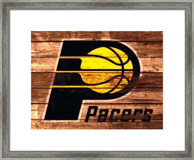 The Indiana Pacers 3a Framed Print by Brian Reaves