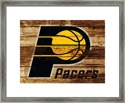 The Indiana Pacers 3c Framed Print by Brian Reaves