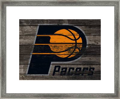 The Indiana Pacers 3f Framed Print by Brian Reaves