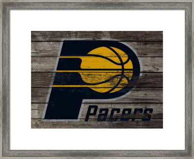 The Indiana Pacers 3h Framed Print by Brian Reaves