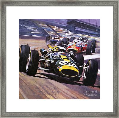 The Indianapolis 500 Framed Print by Wilf Hardy