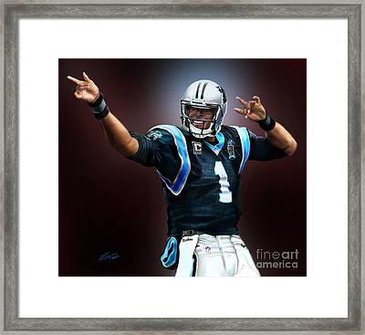 The Inevitable Cam Newton1 Framed Print by Reggie Duffie