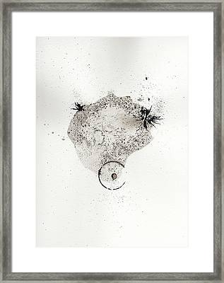 The Inexplicable Ignition Of Time Expanding Into Free Space Phase One Number 17 Framed Print by Mark M  Mellon