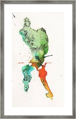 The Inexplicable Ignition Of Time Expanding Into Free Space Phase Two Number 24 Framed Print by Mark M  Mellon