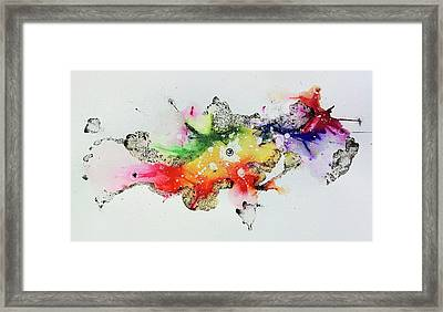 The Inexplicable Ignition Of Time Expanding Into Free Space Phase Two Number 30 Framed Print