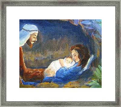 The Infant King Framed Print by Maria Hunt