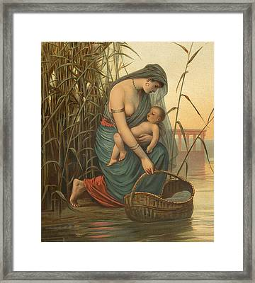 The Infant Moses And His Mother Framed Print by Philip Richard Morris