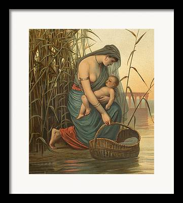 Baby Moses Framed Prints