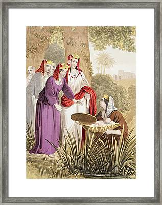 The Infant Moses Is Found In The Framed Print by Vintage Design Pics
