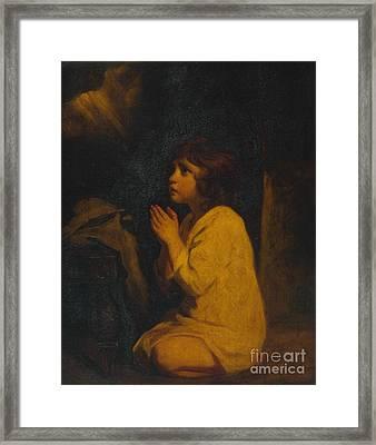 The Infant Samuel Framed Print by MotionAge Designs