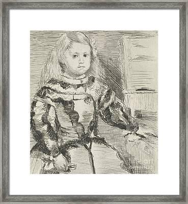 The Infanta Margarita Framed Print by Edgar Degas