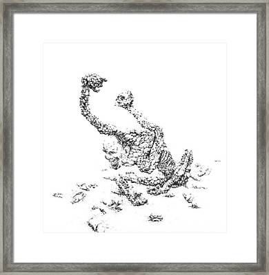The Infection Spread Slowly At First Then Quickly Then Slowly Framed Print by William Rosshirt