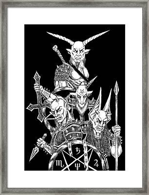 The Infernal Army Black Version Framed Print