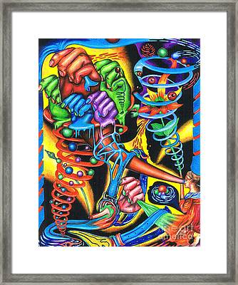The Infinite Expansion Of A Cosmic Revelation Framed Print