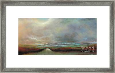 The Inlet Framed Print by Frances Marino