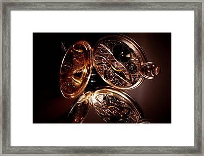 The Inner Working Of Clock Framed Print