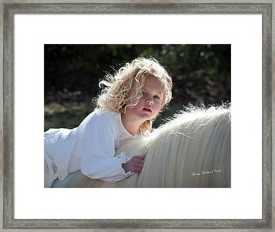 The Innocence Of Childhood Framed Print by Terry Kirkland Cook