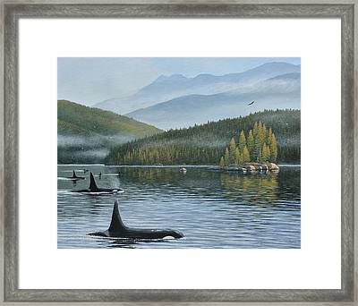 The Inside Passage Framed Print