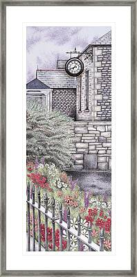 The Institute Clock   Caton  Lancashire Framed Print by Sandra Moore