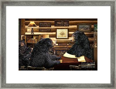 The Insurance Agent Framed Print by Michael A Woodside