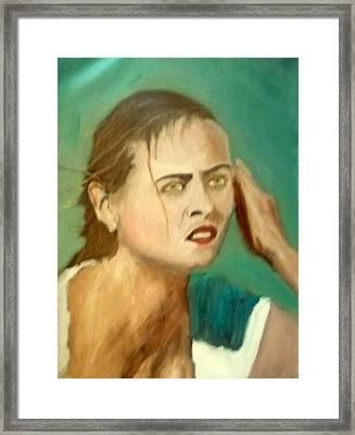 The Intense Girl Framed Print