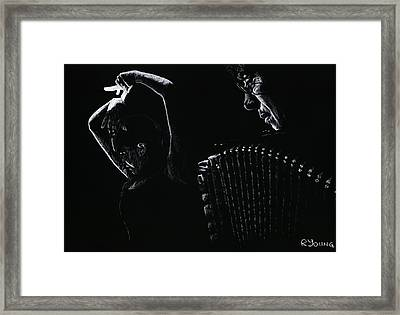 The Intensity Of Flamenco Framed Print by Richard Young