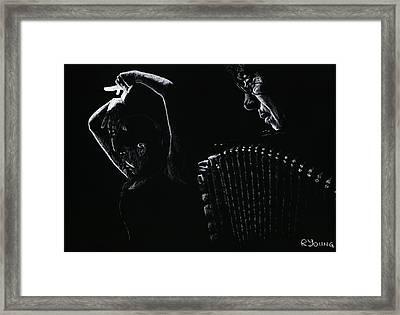 The Intensity Of Flamenco Framed Print