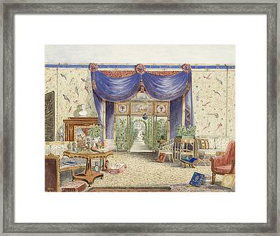 The Interior Of The Chinese Room, Looking Toward The Conservatory, Middleton Park, Oxfordshire Framed Print