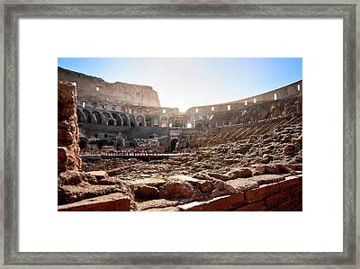 The Interior Of The Roman Coliseum Framed Print