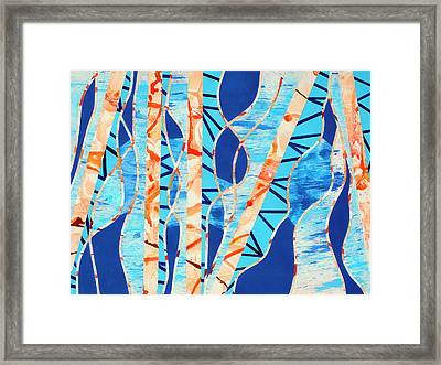 The Interplay Between Orange And Blue Framed Print