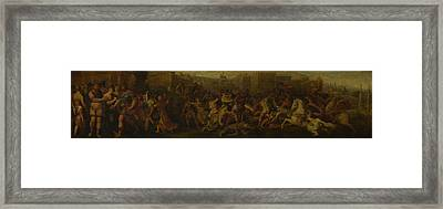 The Intervention Of The Sabine Women Framed Print