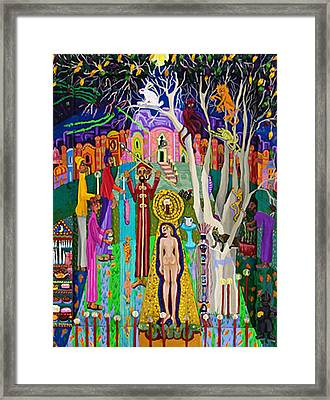 The Intiation Framed Print by Maria Alquilar