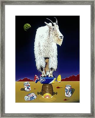 The Intoxicated Mountain Goat Framed Print