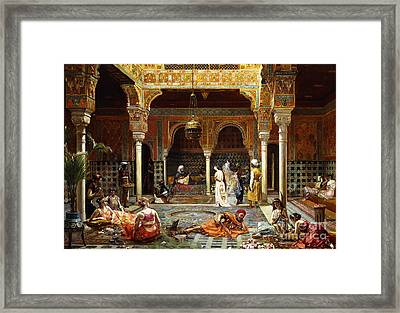 The Introduction After The Bath, 1889 Framed Print by Filippo Baratti