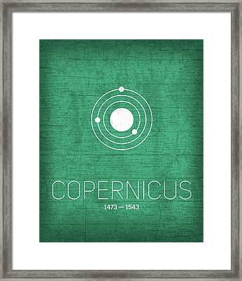 The Inventors Series 001 Copernicus Framed Print by Design Turnpike