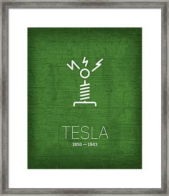The Inventors Series 002 Tesla Framed Print by Design Turnpike
