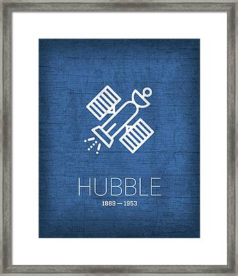 The Inventors Series 004 Hubble Framed Print by Design Turnpike
