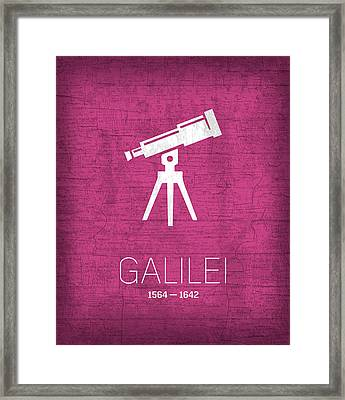 The Inventors Series 007 Galilei Framed Print by Design Turnpike