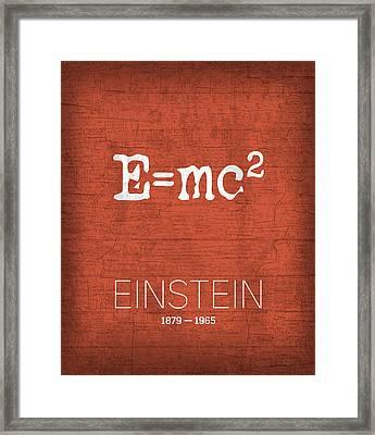 The Inventors Series 009 Einstein Framed Print by Design Turnpike
